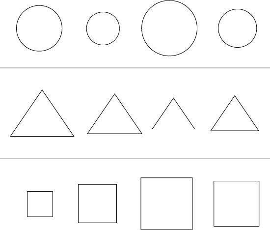 Pobarvanka Geometrijski liki