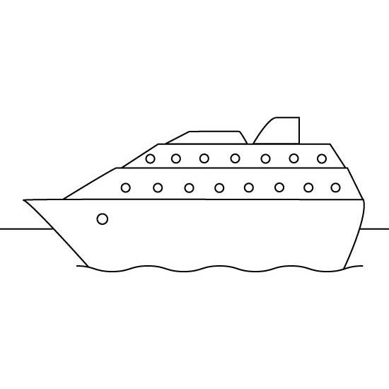 Pobarvanka Potniška ladja