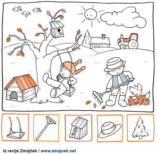 Pobarvanka Jesen na deželi