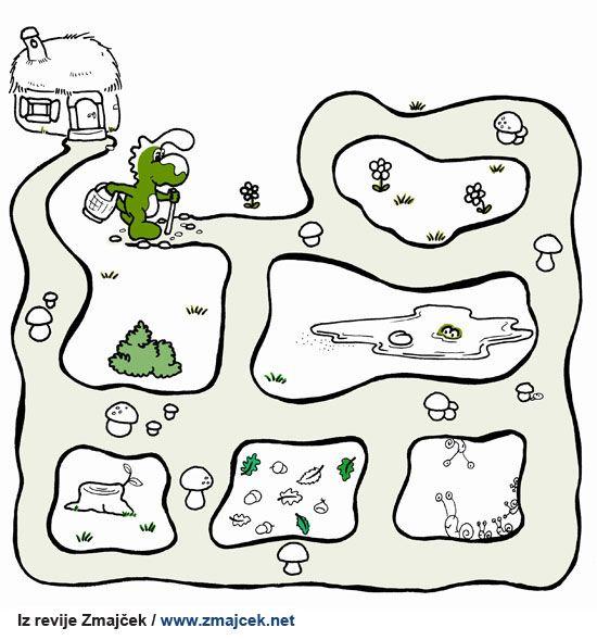 Pobarvanka Zmajčkov labirint