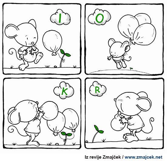 Pobarvanka Z balonom na potep