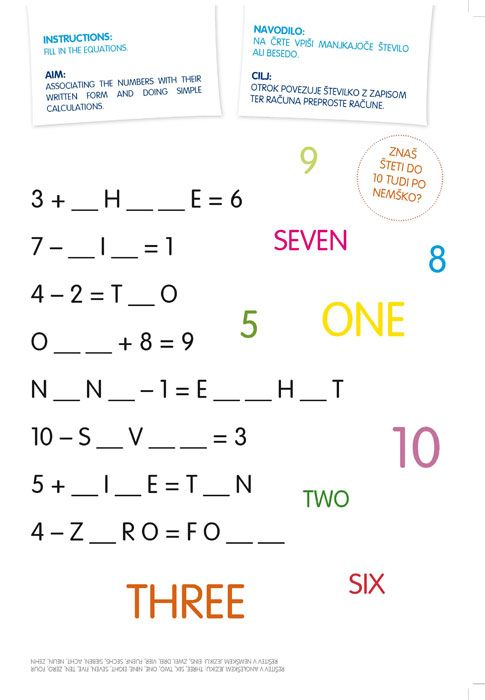 Pobarvanka Učimo se angleščine 2